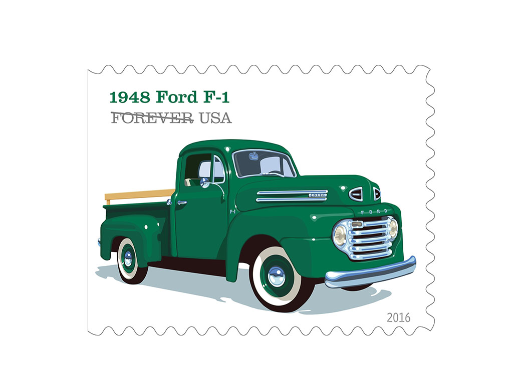 Usps releases commemorative stamps featuring ford vehicles for Ford motor company customer service email address