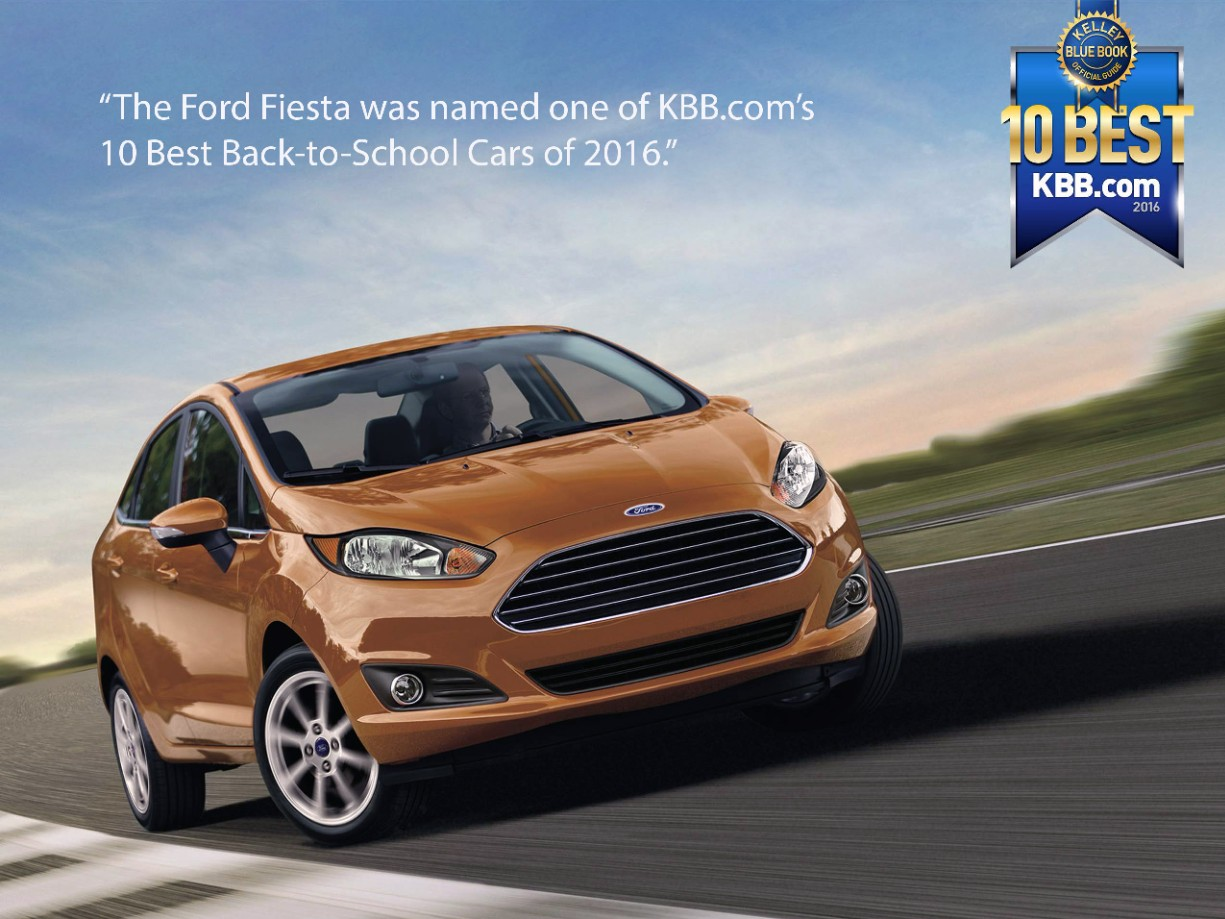 KBB.com Names Ford Fiesta To 10 Best Back-to-School Cars of 2016 ...